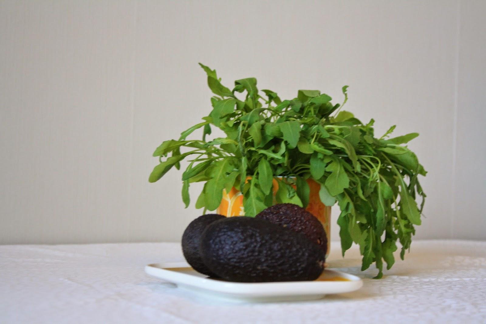 rucola, avokado, arabia,