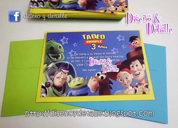 Diseño y Detalle: Invitaciones de Toy Story