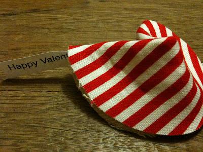 DIY Valentines Fabric Fortune Cookie