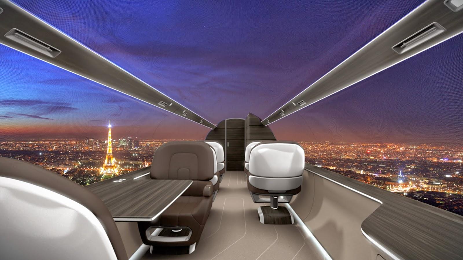 Award nominated windowless supersonic jet
