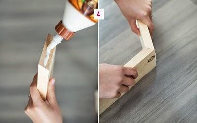 cách làm kệ gỗ trang trí tổ ong