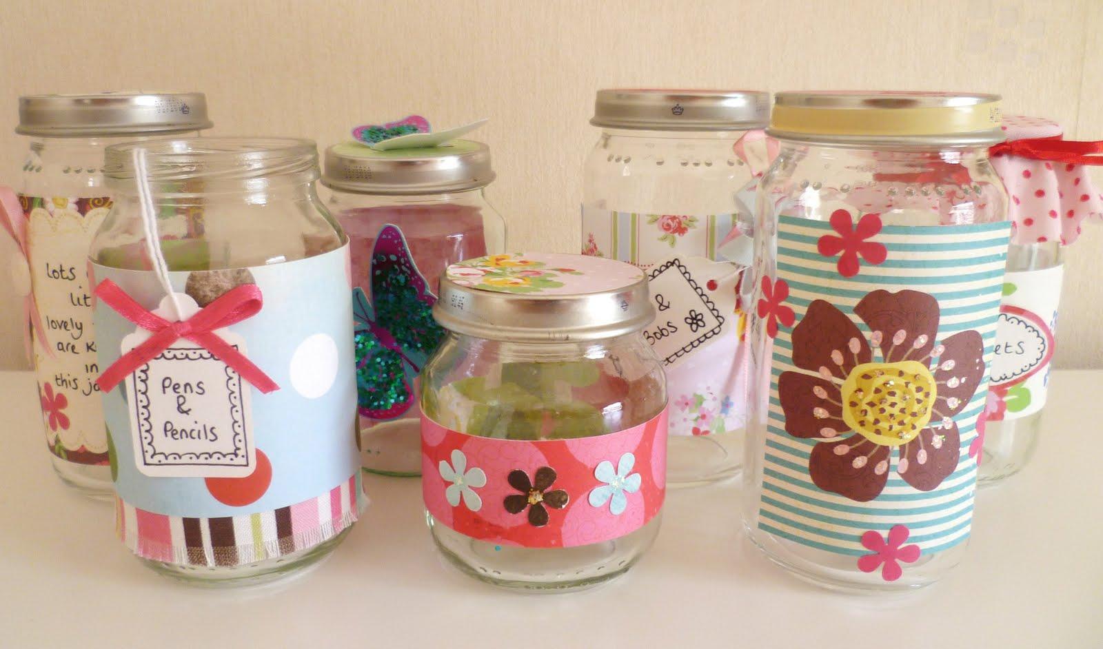 sew crafty lisa jayne decorated jars
