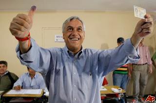 Sebastián Piñera luego de votar