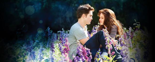 Still de Amanhecer Parte 2 com Bella e Edward na Campina