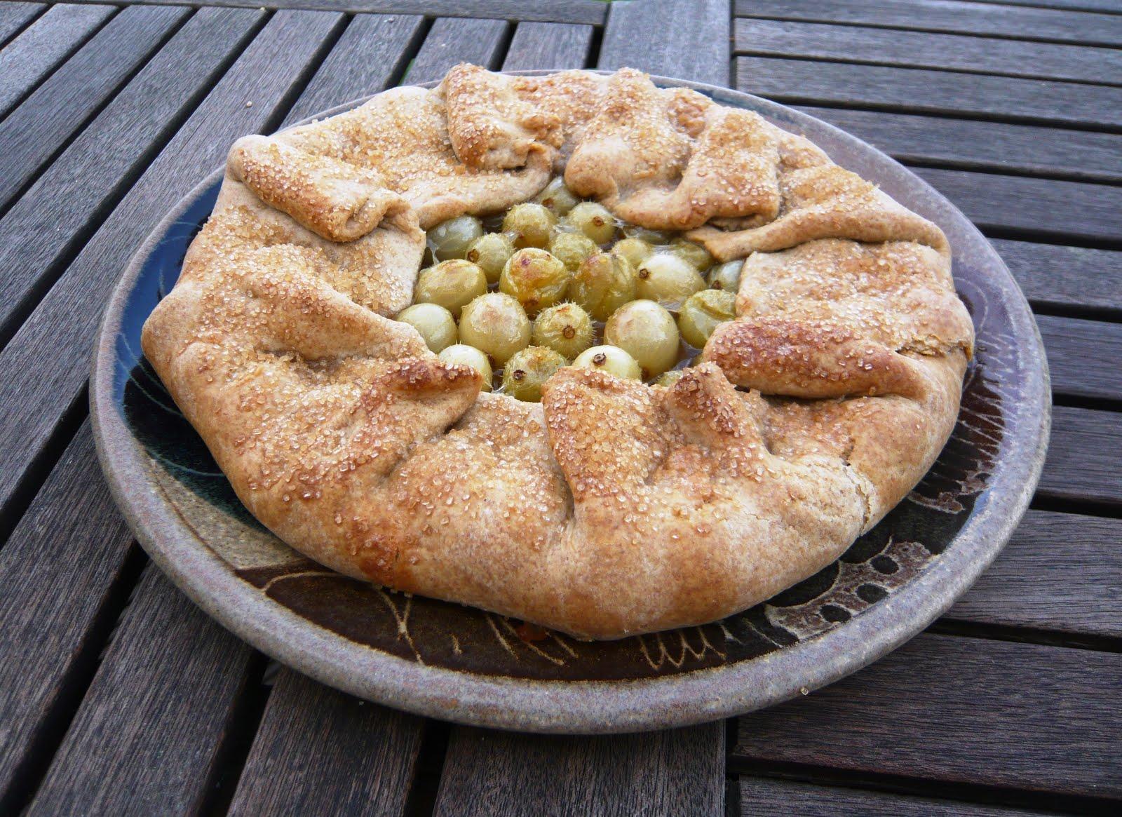 rustic gooseberry tart
