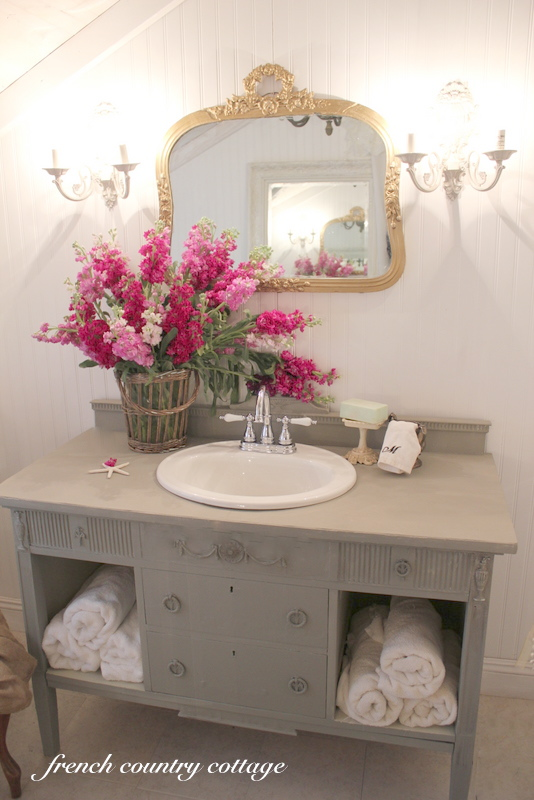 vanity details french country cottage