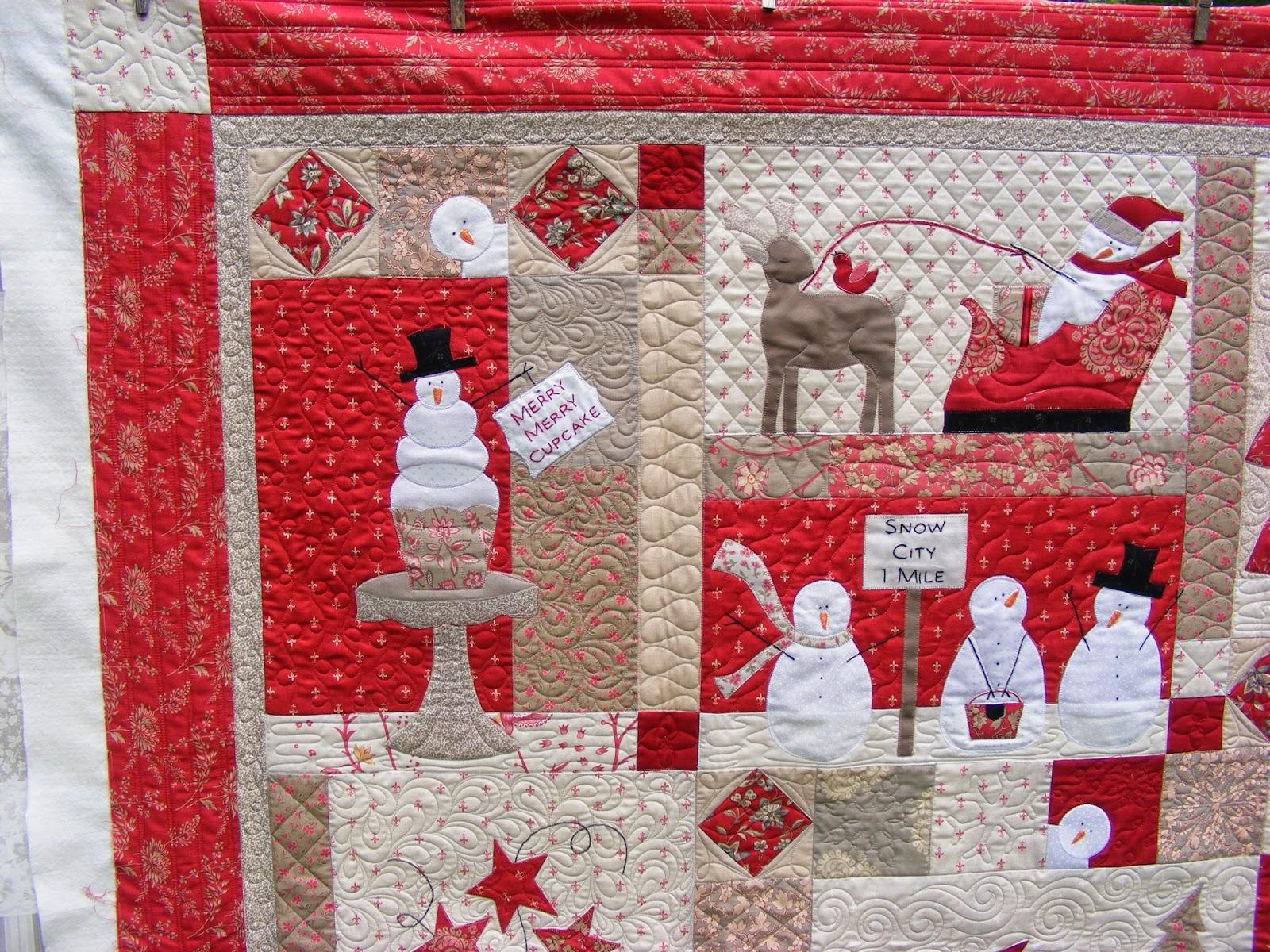 Tia Curtis Quilts Merry Merry Snowmen Quilt