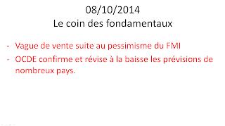 news économiques et boursières 08/10/2014