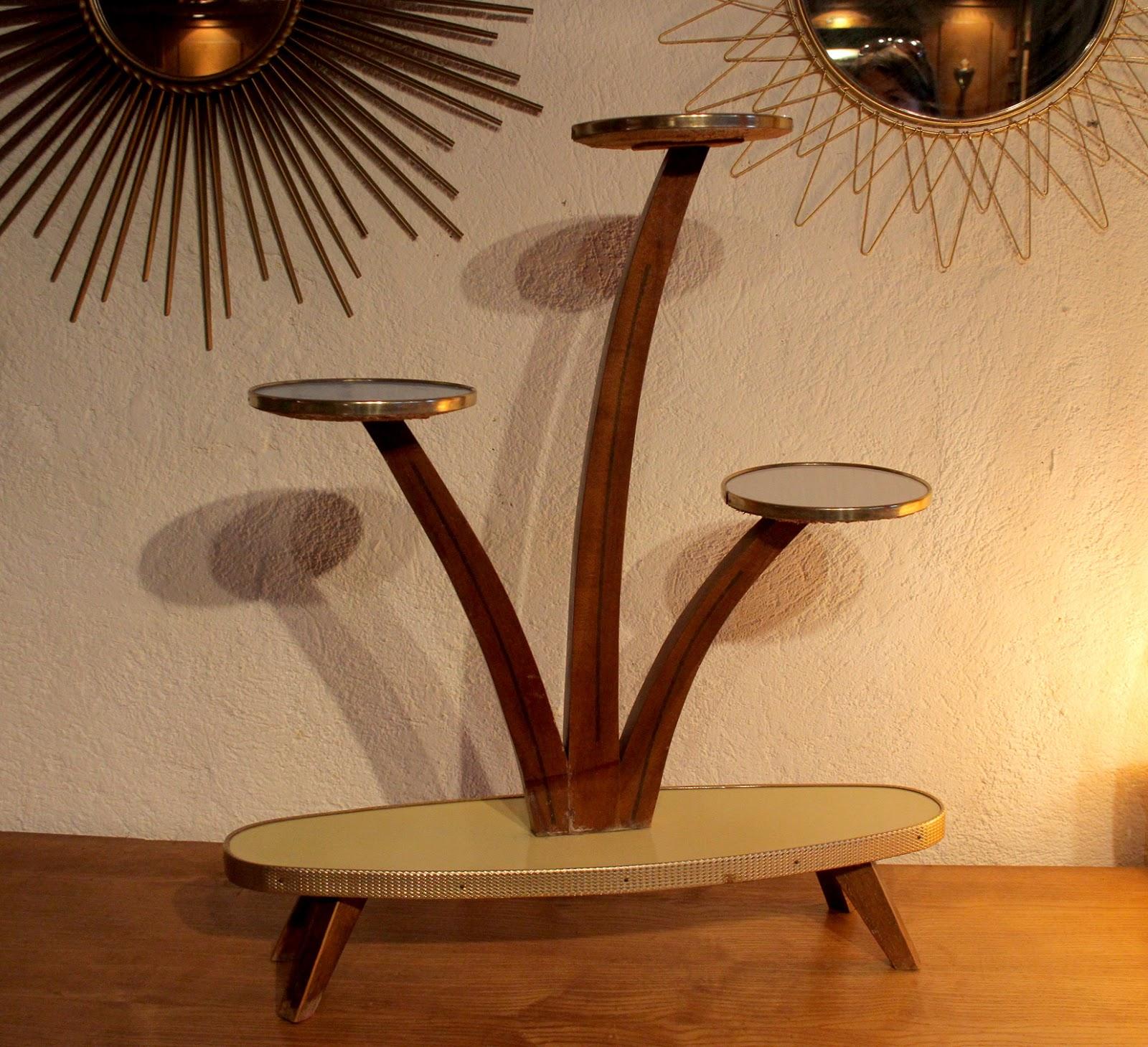 Chicbaazar objets vintage 50 60 70 porte plantes pots - Miroir chaty vallauris prix ...