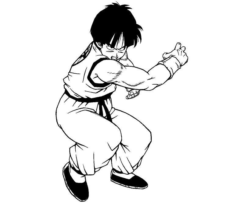Printable Yamcha 4 Coloring Page