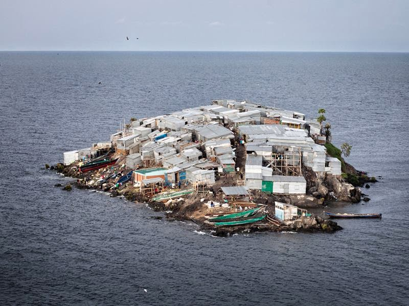 Migingo, which is situated in African Lake Victoria, in the size of 2,000-square-meter or 0.49-acre