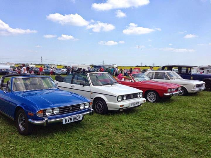 Triumph Stag, Golf Mk1 convertible, Ford Capri Mk1, Lotus Cortina