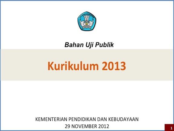 Uji Publik Kurikulum 2013 Online