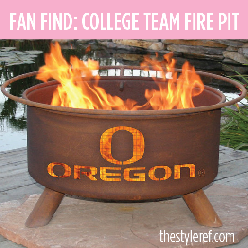 College team outdoor fire pit