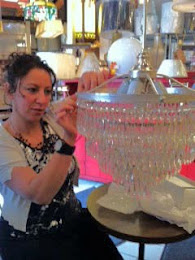 We work on crystal chandeliers