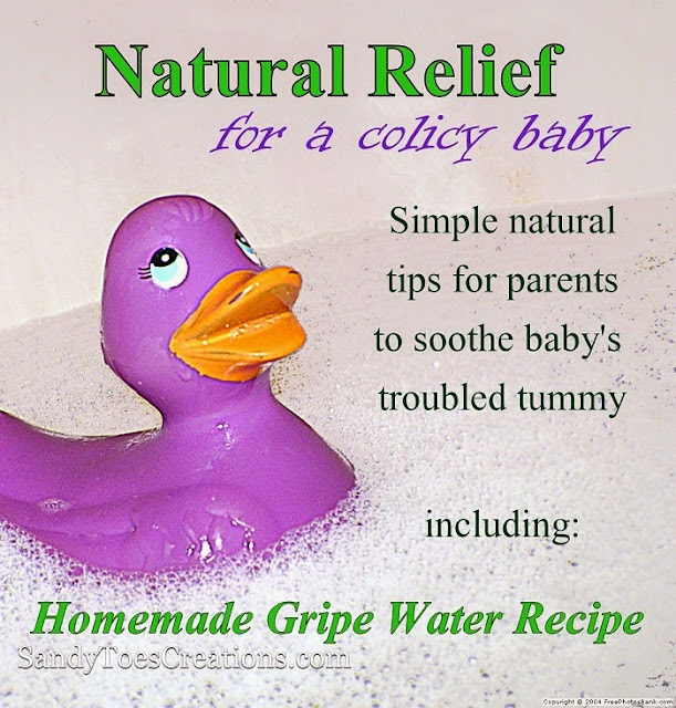 natural relief for #colic #baby #parenting #kidshealth #natualhealth #Gripewater #recipe #homemade