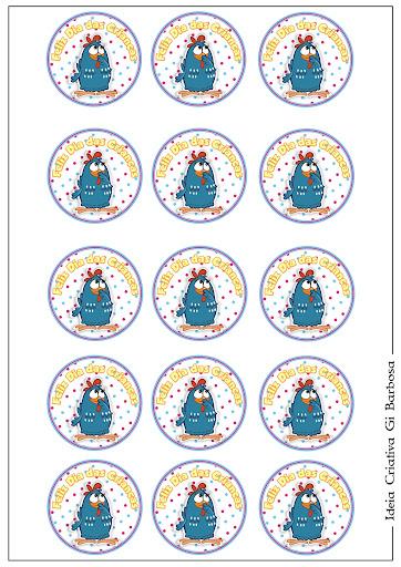 Rótulo para Latina Mint Galinha Pintadinha Dia das Crianças
