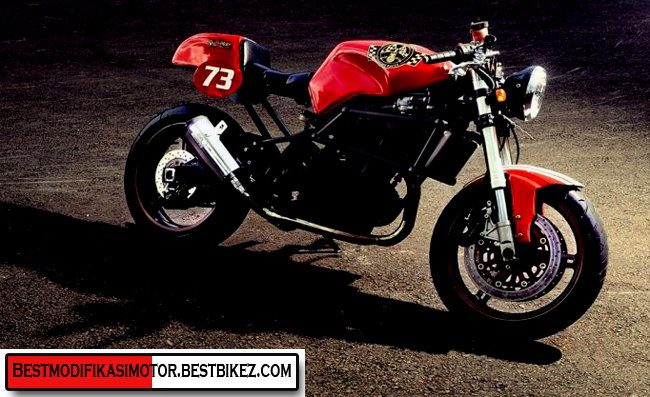Modifikasi Kawasaki Ninja 250R Cafe Racer title=