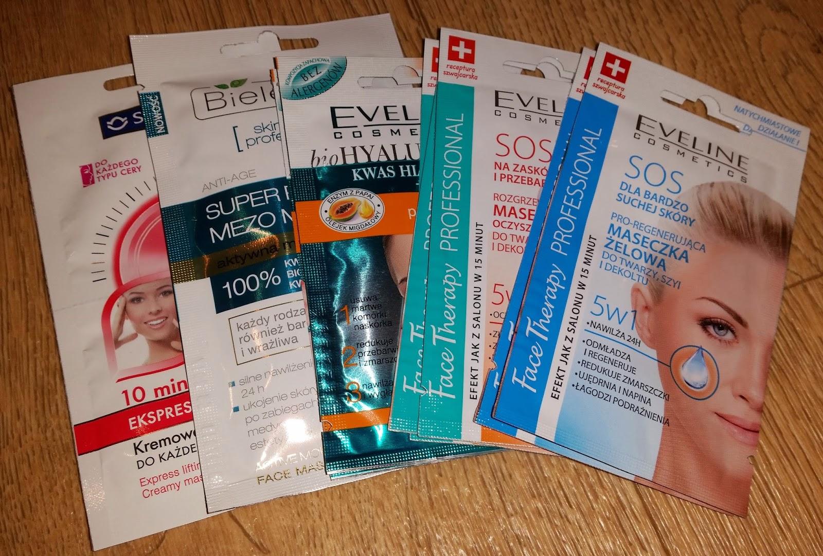 kosmetyki, Eveline cosmetics, maseczki do twarzy