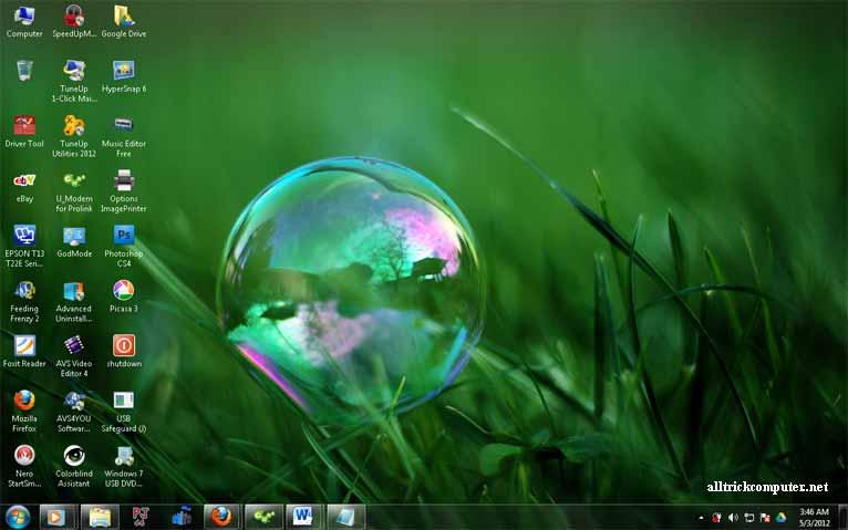 Cara Mengecilkan dan Memperbesar Icon Desktop Windows 7 dengan Mudah