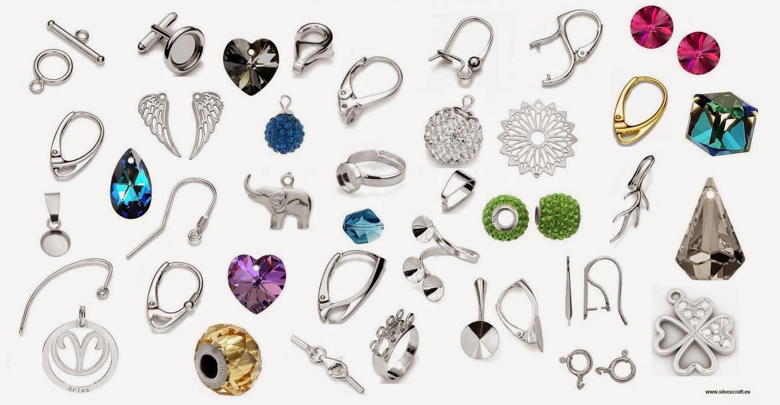 Componente de argint 925 - accesorii de argint 925 destinate crearii de bijuterii
