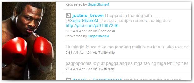 shane mosley tweeter tweet tagalog filipino