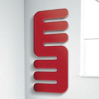 radiador secatoallas rojo baño