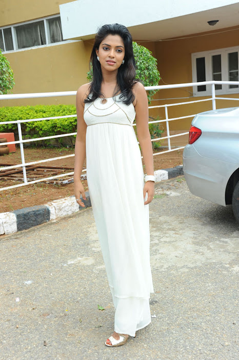 amala paul spicy galley in white dress at event actress pics