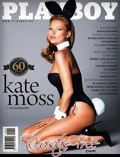 Playboy Hungary - Kate Moss - Janeiro/Fevereiro 2014