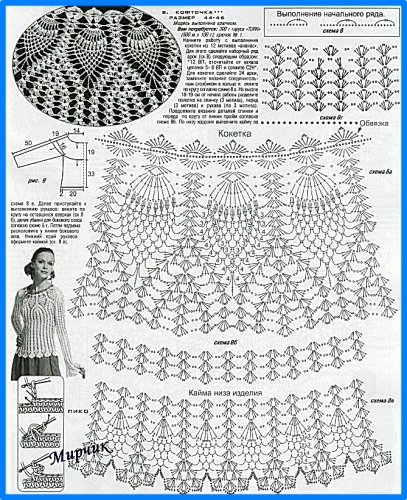 Esquemas en.crochet blusas - Imagui