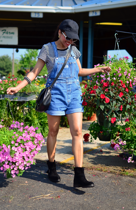 Overall with biker booties