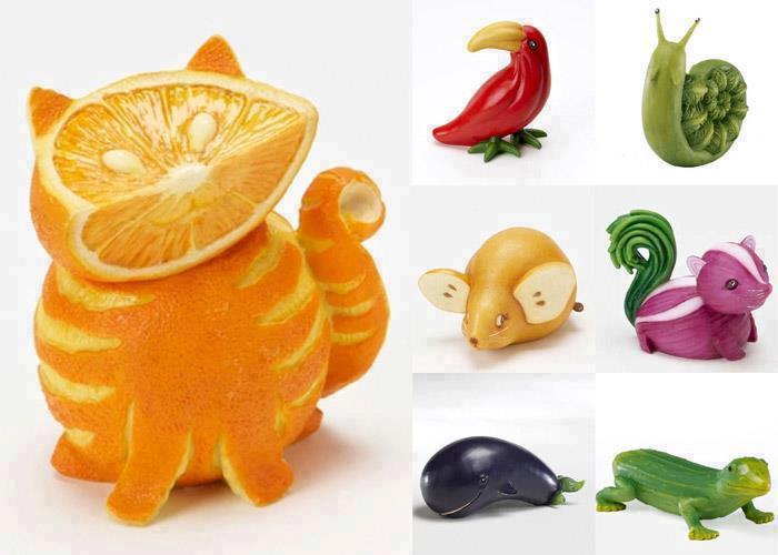 Fika a dika por um mundo melhor esculturas de legumes e