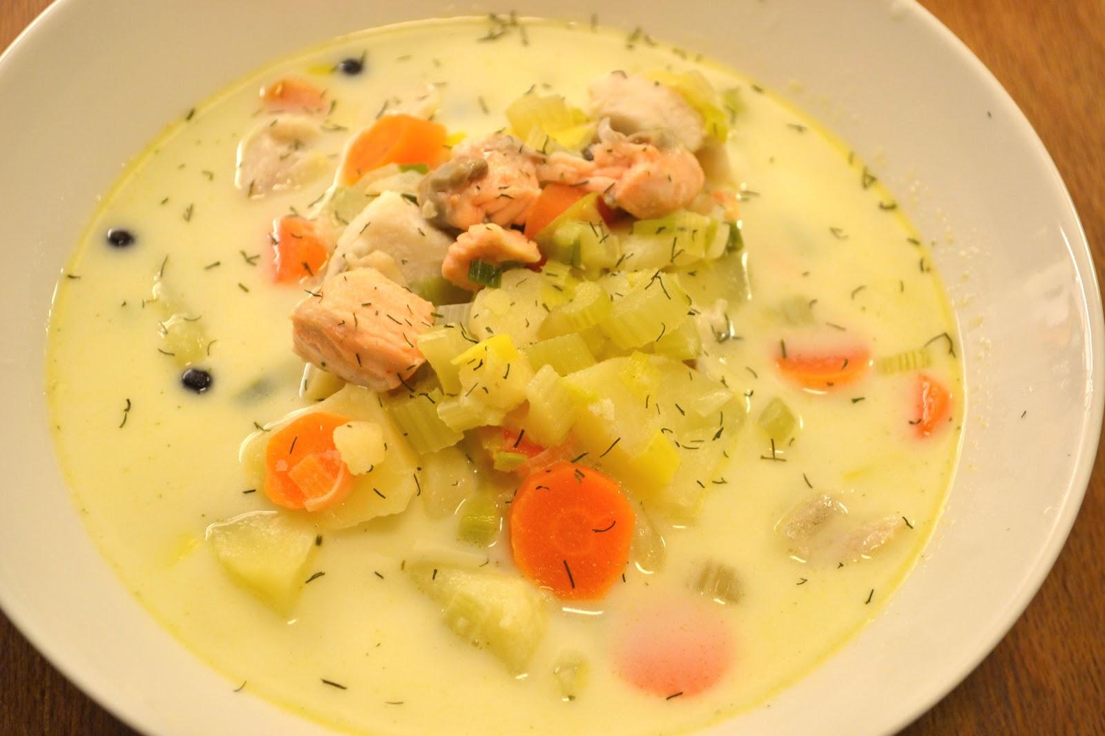 Mastertofu creamy salmon soup for Creamy fish soup recipe