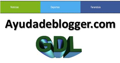 Crear un Menú de colores para blogger