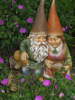 Garden gnome couple