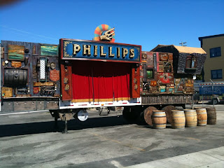 Phillips brewery beer wagon hand painted for beer festival by Chris dobell  signs north america traditional signage dobell designs