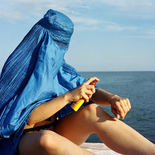 Naked women in burkas