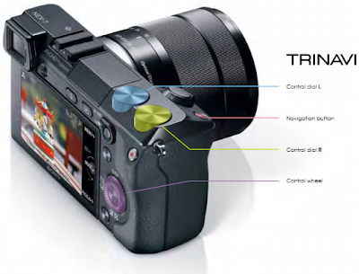 Sony NEX-7 with Trinavi feature, HDR camera, built-in flash, photography, professional camera, 3D sweep panorama, OLED, HD movies