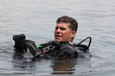 Powell assists the Houston Police Department Dive Team.