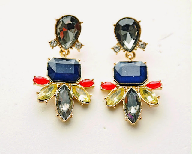 m renee design, blue statement earrings, gray statement earrings, online jewelry store, dragonfly earrings, jewels with style