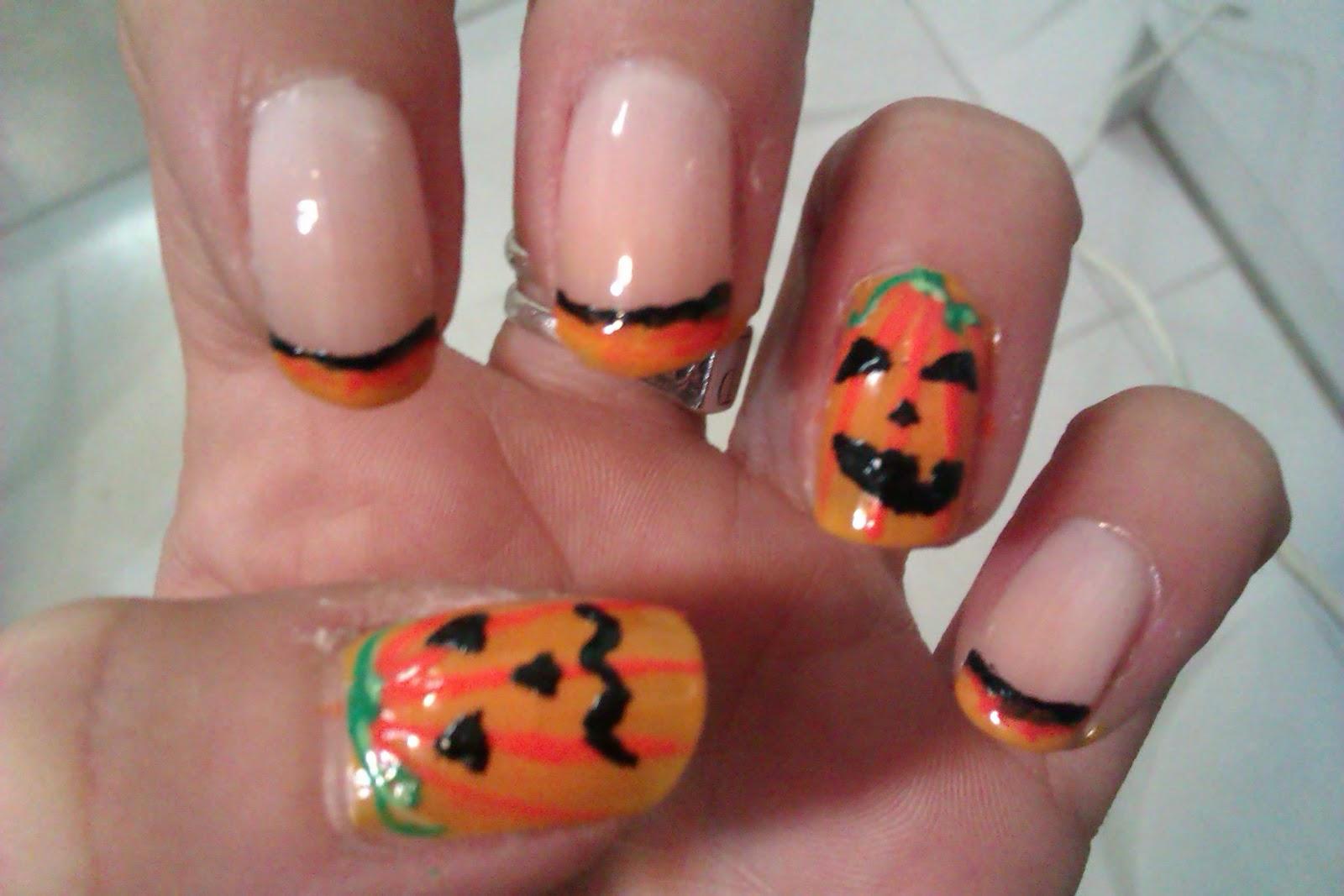 Manicura de fantasia esto es halloween 12 10 calabazas - Disenos de calabazas de halloween ...
