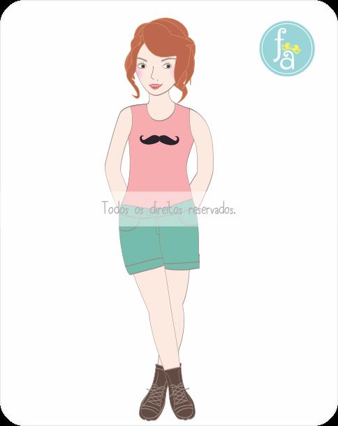 ilustração, caricatura de menina, personalização de blog, ilustração para topo de blog, layout para blog