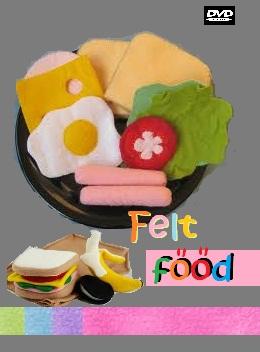 Kreasi makanan dari kain felt