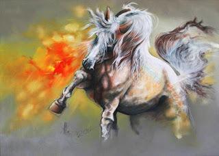 Pintura Caballo Abstracto