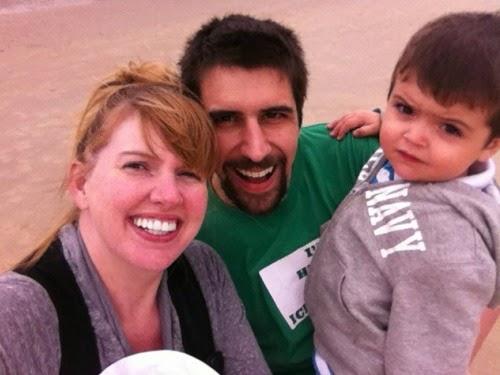 Trip to Belgium: Family photo on the beach