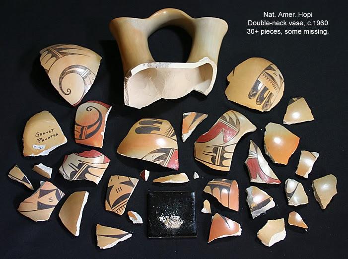 Hopi Double Neck Vase Repair Tesserak Ceramic Repair Restoration