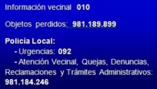 Teléfonos de Interés - Ayuntamiento