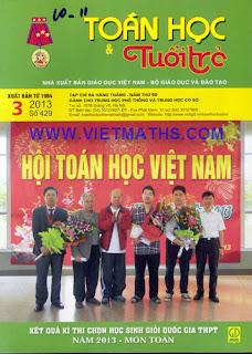 bao Tap chi Toan hoc va Tuoi tre so 429 thang 3 nam 2013
