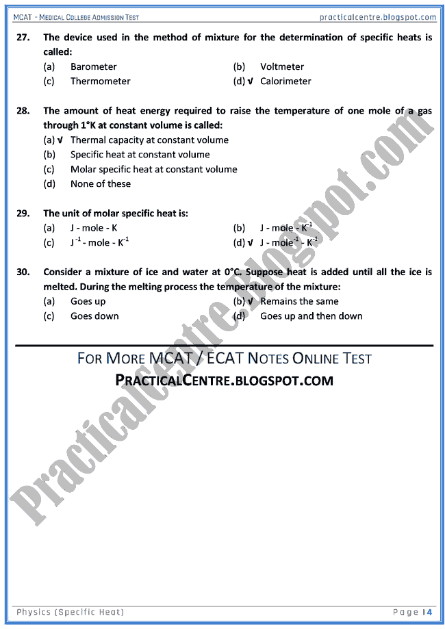 mcat-physics-specific-heat-mcqs-for-medical-college-admission-test