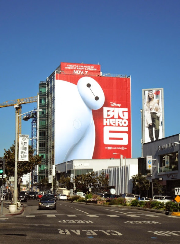 Giant Baymax Big Hero 6 movie billboard